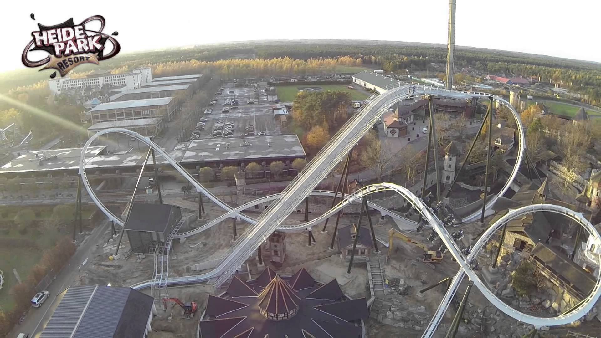 Heide Park Resort Wing Coaster Flugmanöver 5 Revolution Roll