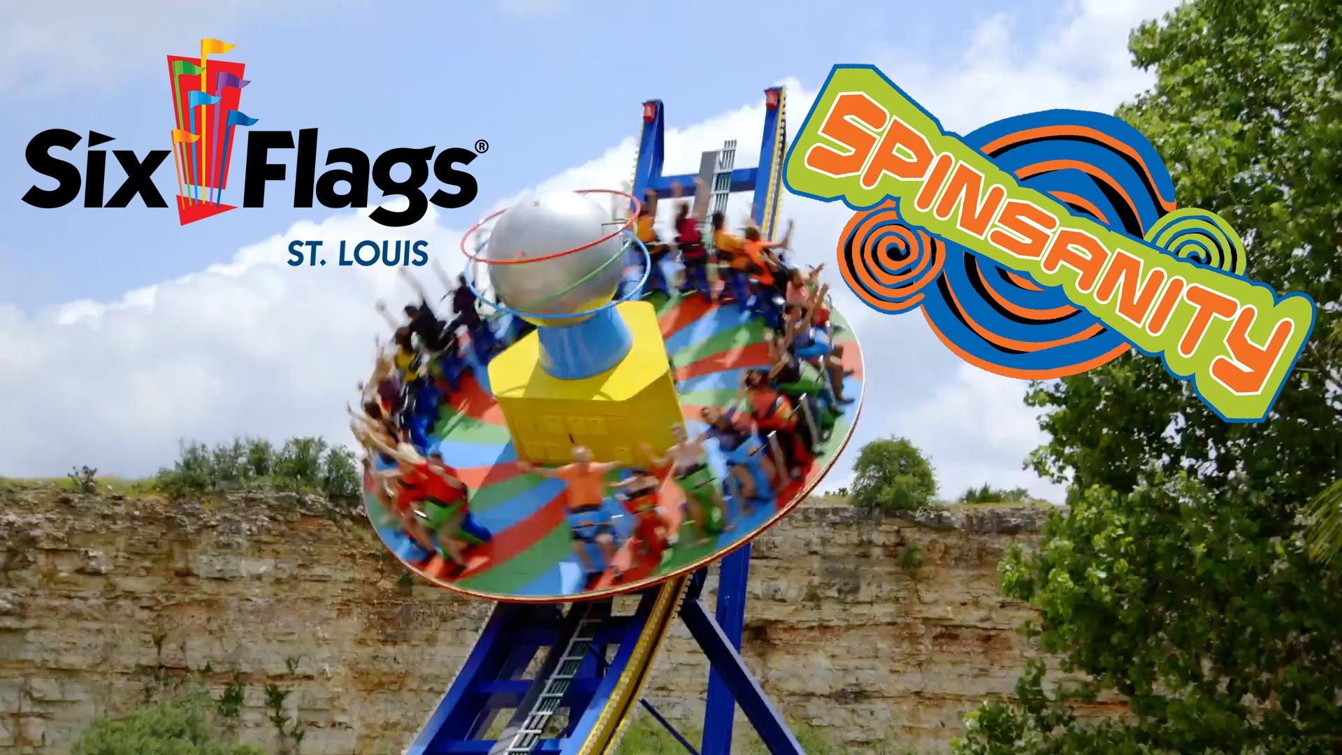 spinsanity flat ride new at six flags st louis in 2017